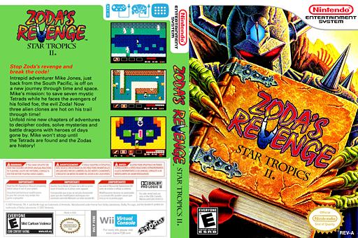 Zoda's Revenge: StarTropics II VC-NES cover (FERE)