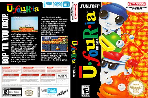 Ufouria: The Saga VC-NES cover (FFPB)