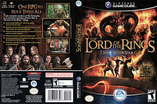 The Lord of the Rings: The Third Age GameCube cover (G3AE69)