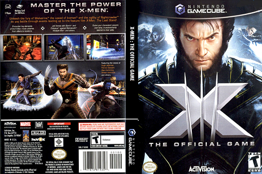 X-Men: The Official Game GameCube cover (G3XE52)