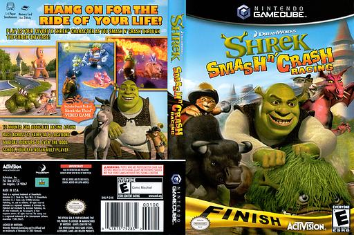 Shrek Smash n' Crash Racing GameCube cover (G4IE52)