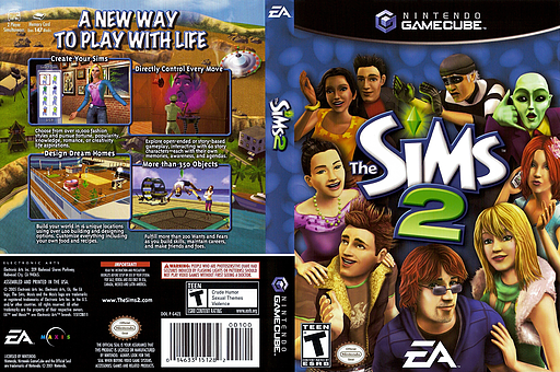 The Sims 2 GameCube cover (G4ZE69)