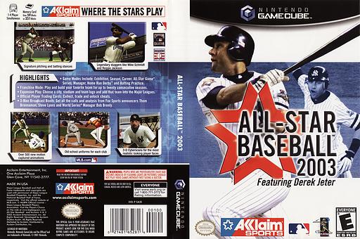 All-Star Baseball 2003 GameCube cover (GA3E51)