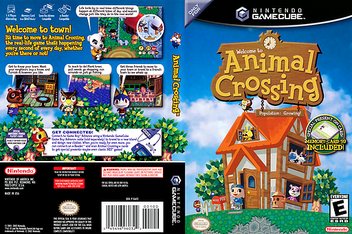 Animal Crossing GameCube cover (GAFE01)