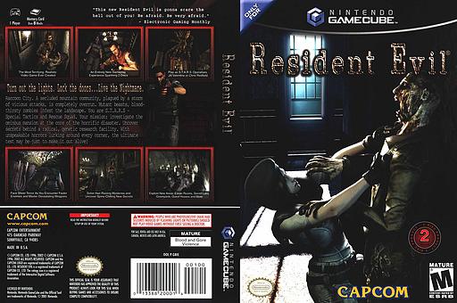 Resident Evil GameCube cover (GBIE08)