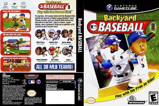 Backyard Baseball GameCube cover (GBKE70)