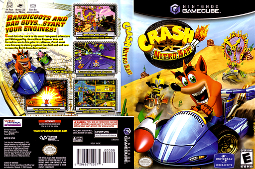 Crash Nitro Kart GameCube cover (GCNE7D)