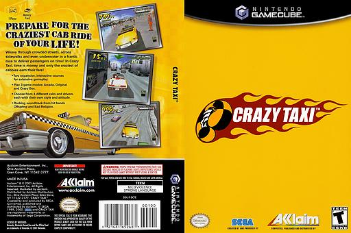 Crazy Taxi GameCube cover (GCTE51)