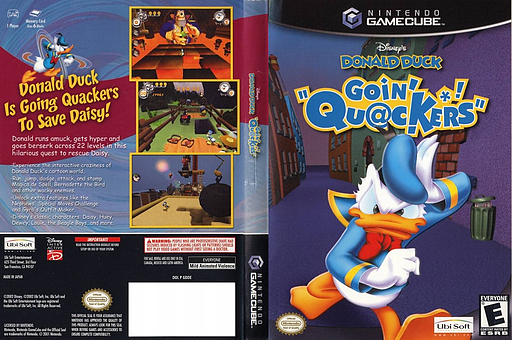 Disney's Donald Duck: Goin' Quackers GameCube cover (GDDE41)