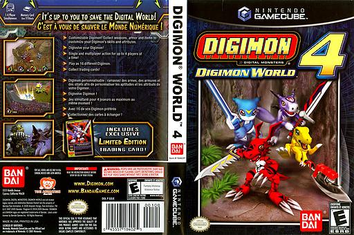 Digimon World 4 GameCube cover (GDJEB2)