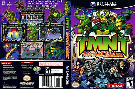 TMNT: Mutant Melee GameCube cover (GE5EA4)