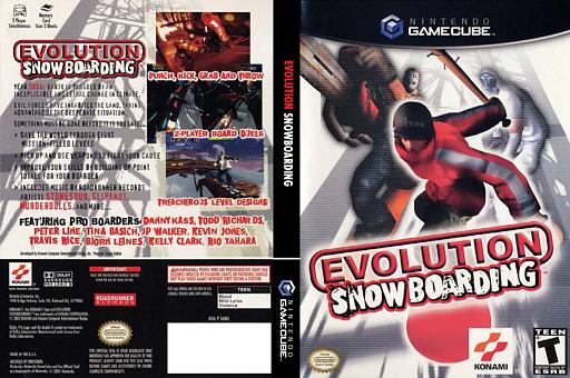 Evolution Snowboarding GameCube cover (GEBEA4)