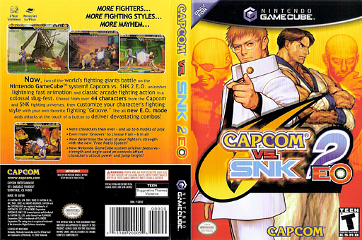 Capcom vs. SNK 2 EO GameCube cover (GEOE08)