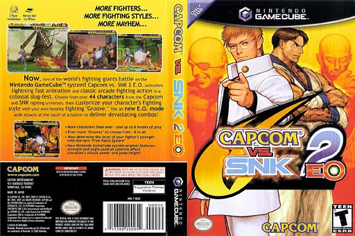 Capcom vs. SNK 2 EO GameCube cover (GEOE08)