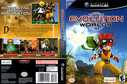 Evolution Worlds GameCube cover (GEWE41)