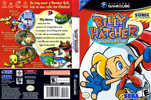 Billy Hatcher and the Giant Egg GameCube cover (GEZE8P)