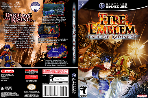 Fire Emblem: Path of Radiance GameCube cover (GFEE01)