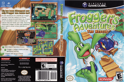 Frogger's Adventures: The Rescue GameCube cover (GFQEA4)