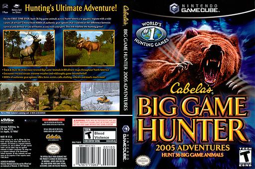 Cabela's Big Game Hunter 2005 GameCube cover (GG5E52)