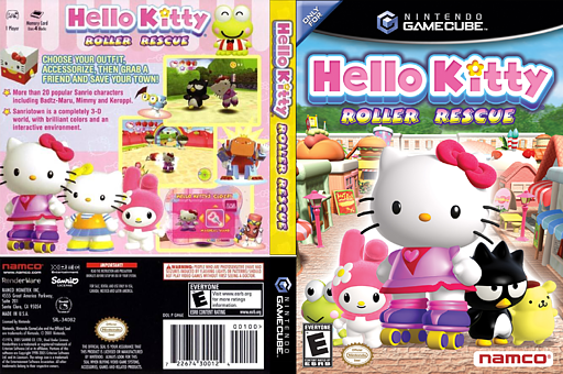 Hello Kitty: Roller Rescue GameCube cover (GH6EAF)