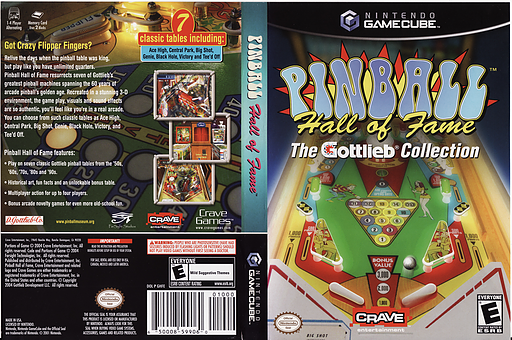 Pinball Hall of Fame: The Gottlieb Collection GameCube cover (GHFE4Z)