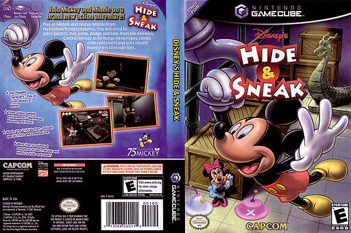 Disney's Hide & Sneak GameCube cover (GHVE08)