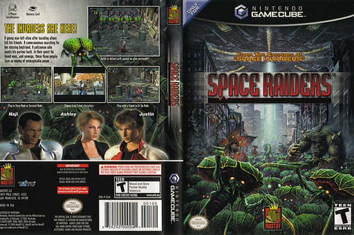 Space Raiders GameCube cover (GIJEFP)