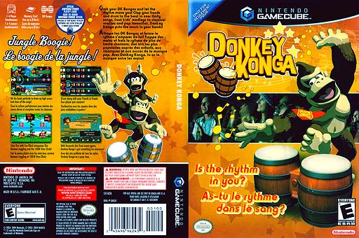 Donkey Konga GameCube cover (GKGE01)