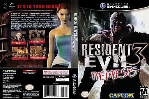 Resident Evil 3: Nemesis GameCube cover (GLEE08)