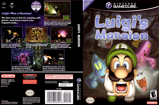 Luigi's Mansion GameCube cover (GLME01)