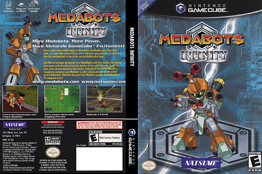 Medabots Infinity GameCube cover (GM6EE9)