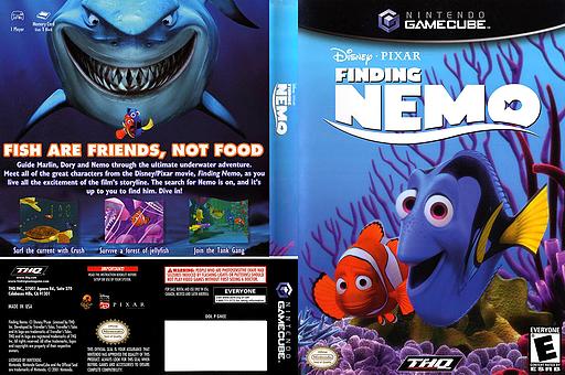 Finding Nemo GameCube cover (GNEE78)
