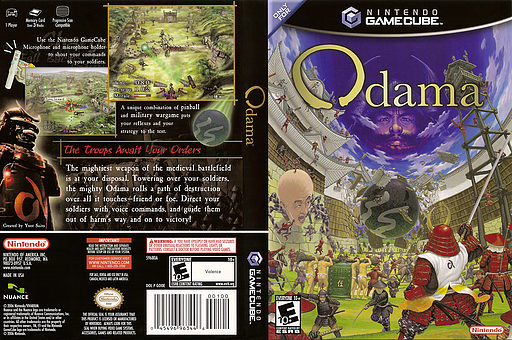 Odama GameCube cover (GOOE01)