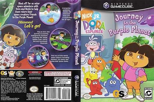 Dora the Explorer: Journey to the Purple Planet GameCube cover (GQLE9G)