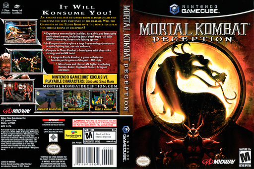 Mortal Kombat: Deception GameCube cover (GQNE5D)