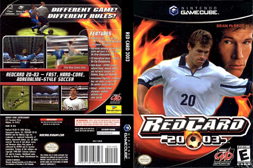 Red Card 2003 GameCube cover (GR3E5D)