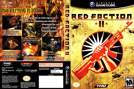 Red Faction II GameCube cover (GRFE78)