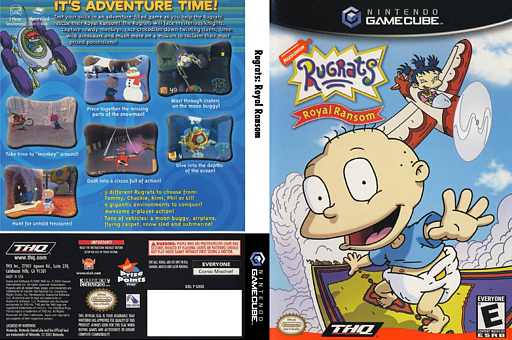 Rugrats: Royal Ransom GameCube cover (GRRE78)