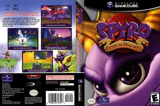 Spyro:Enter the Dragonfly GameCube cover (GS8E7D)