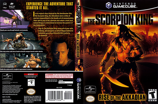 The Scorpion King: Rise of the Akkadian GameCube cover (GSKE7D)