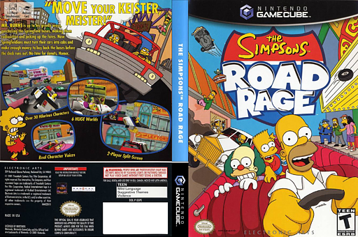 The Simpsons: Road Rage GameCube cover (GSPE69)
