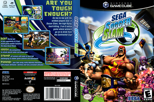 Sega Soccer Slam GameCube cover (GSSE8P)