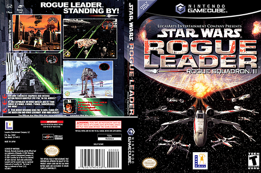Star Wars Rogue Squadron II: Rogue Leader GameCube cover (GSWE64)