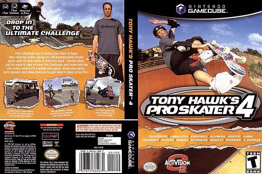 Tony Hawk's Pro Skater 4 GameCube cover (GT4E52)