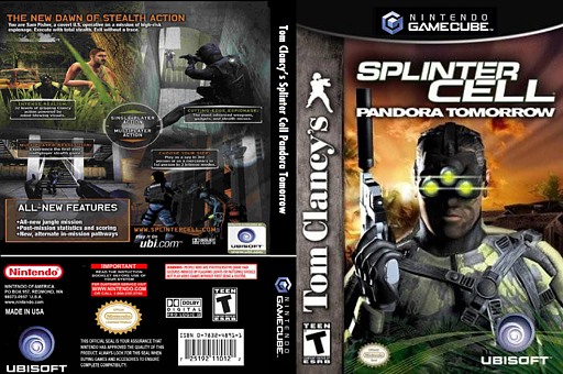 Tom Clancy's Splinter Cell: Pandora Tomorrow GameCube cover (GT7E41)