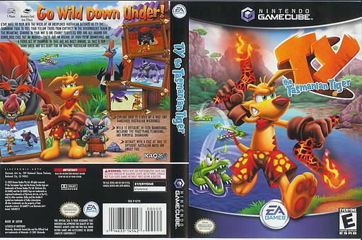 Ty the Tasmanian Tiger GameCube cover (GTYE69)
