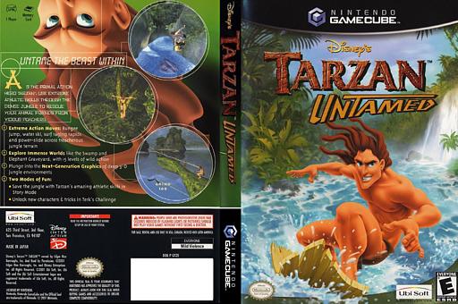 Tarzan Untamed GameCube cover (GTZE41)