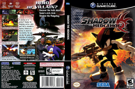 Shadow the Hedgehog GameCube cover (GUPE8P)