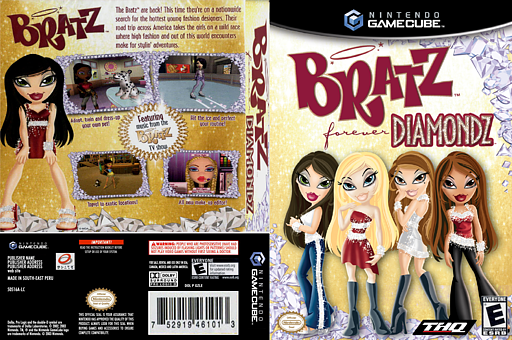 Bratz Forever Diamondz GameCube cover (GVDE78)