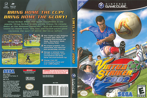 Virtua Striker 2002 GameCube cover (GVSE8P)